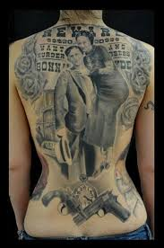 15 Bonnie And Clyde Tattoos For Badass Couples   Tattoodo   Bonnie And Clyde Tattoo