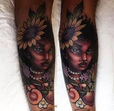 Bold Graphics Look Best with Dark Skin Tattoos