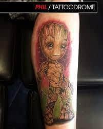 Groot Tattoo 11