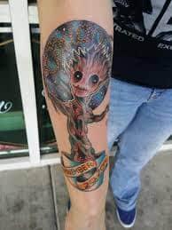 Groot Tattoo 26