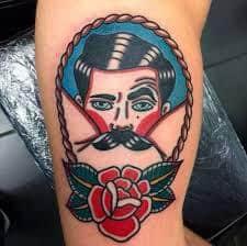 Mustache Tattoo 31