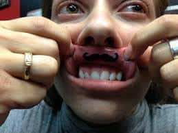 Mustache Tattoo 39