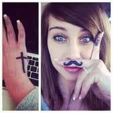 Mustache Tattoo 5