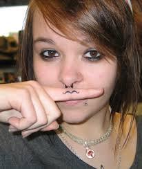 Mustache Tattoo 9