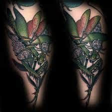 Praying Mantis Tattoo 15