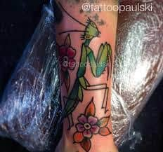 Praying Mantis Tattoo 2