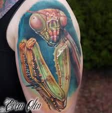 Praying Mantis Tattoo 28