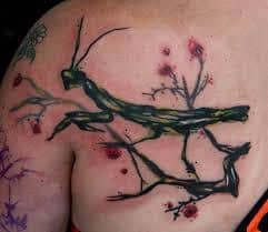 Praying Mantis Tattoo 38