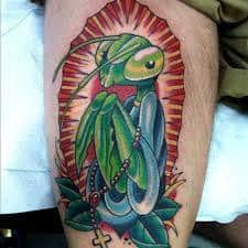 Praying Mantis Tattoo 42