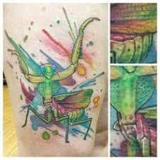 Praying Mantis Tattoo 56