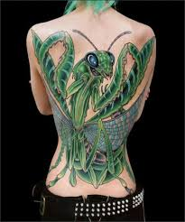 Praying Mantis Tattoo 6