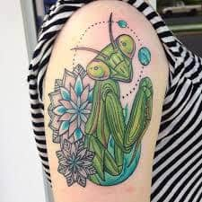 Praying Mantis Tattoo 8