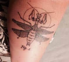 Praying Mantis Tattoo 9