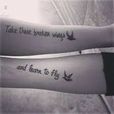 Take These Broken Wings and Learn to Fly Tattoo 37