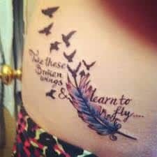 Take These Broken Wings and Learn to Fly Tattoo 44