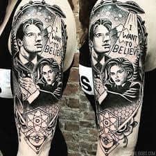 X Files Tattoo 6