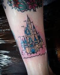 disney castle tattoo 1