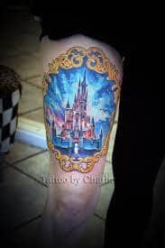 disney castle tattoo 11