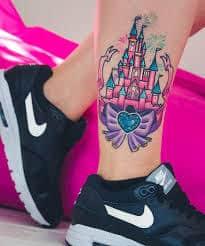 disney castle tattoo 12