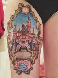 disney castle tattoo 16