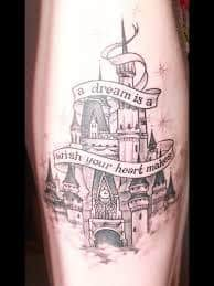 disney castle tattoo 2