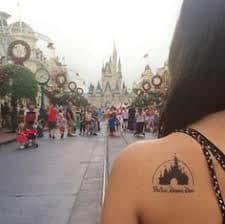 disney castle tattoo 20