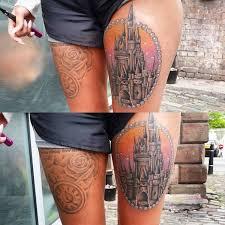 disney castle tattoo 22