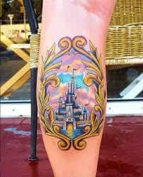 disney castle tattoo 23