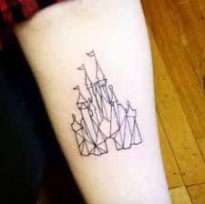 disney castle tattoo 26