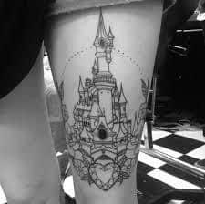 disney castle tattoo 27