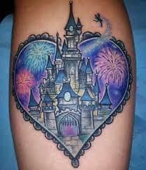 disney castle tattoo 28