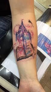 disney castle tattoo 31