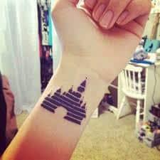 disney castle tattoo 32