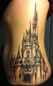 disney castle tattoo 34