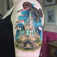 disney castle tattoo 37