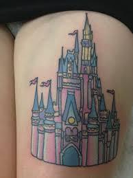 disney castle tattoo 38