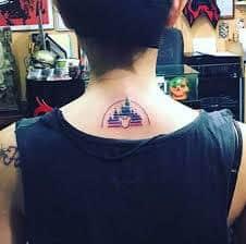 disney castle tattoo 39