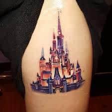 disney castle tattoo 42