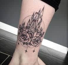 disney castle tattoo 44
