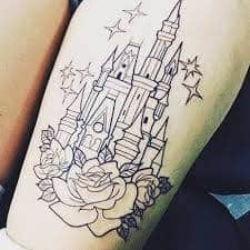 disney castle tattoo 47
