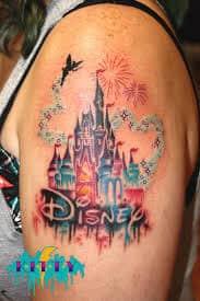 disney castle tattoo 5