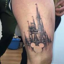 disney castle tattoo 8