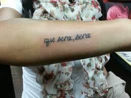 que sera sera tattoo 31