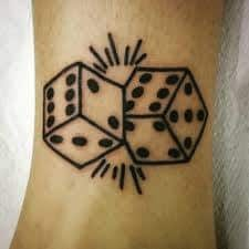 Dice Tattoo Meaning 45