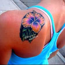 Hibiscus Tattoo Meaning 43