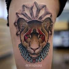 What Does Lioness Tattoo Mean? | 45+ Ideas and Designs