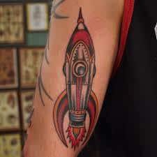 Rocket Tattoo 27