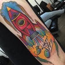 Rocket Tattoo 46
