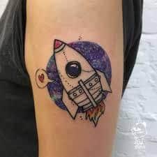Rocket Tattoo 52