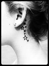 Star Tattoo Behind Ear 11